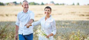 Ehepaar genießt Vitalität
